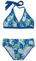 Pink Platinum Girls' Halter Floral Bikini