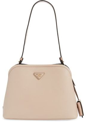 Prada Small Promenade Saffiano Calfskin Shoulder Bag