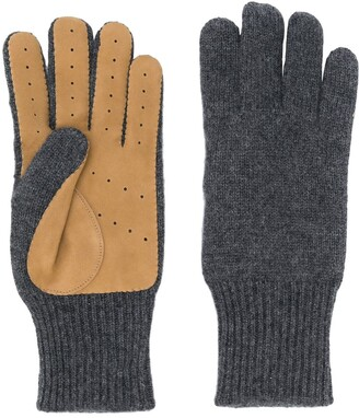 Brunello Cucinelli Panelled Knitted Gloves