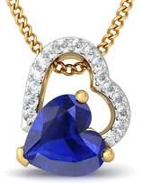 PEACOCK JEWELS 14K Yellow Gold (HallMarked) 0.08cttw Round-Cut-Diamond (   SI) and Tanzanite Pendant