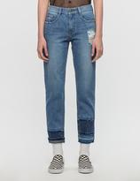 Sjyp Multi Hem Cut Off Jeans