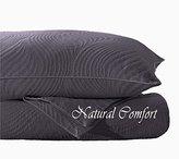 Natural Comfort Matelassé Blanket Coverlet, Queen, Dune/Purple Gray