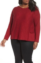 Eileen Fisher Plus Size Women's Organic Linen & Cotton Sweater