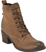 John Lewis Harper Lace Up Ankle Boots, Brown