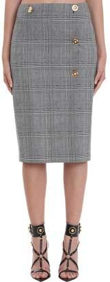 Versace Skirt In Grey Wool