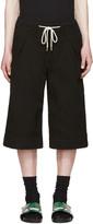 SASQUATCHfabrix. Black Textured Sashico Hakama Shorts