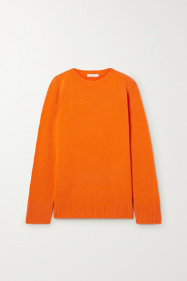 The Row Sibel Oversized Wool And Cashmere-blend Sweater - Bright orange