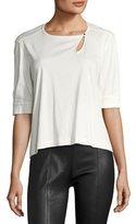 Isabel Marant Cotton Keyhole T-Shirt