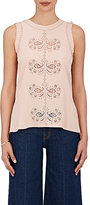 Derek Lam 10 Crosby Women's Silk-Blend Sleeveless Blouse