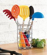 Fiesta 6-Piece Multi-Color Utensil Set with Crock