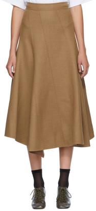 J.W.Anderson Tan Spiral Skirt