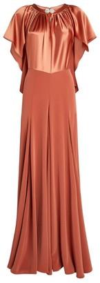Alexis Mabille Drape Silk Satin Gown