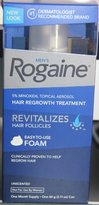 Rogaine Men's 5% Minoxidil Topical Aerosol Hair Regrowth Treatment Unscented One Month Supply 2.11 Oz Can