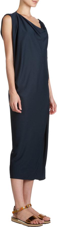 Lanvin Sleeveless Drape Neck Dress