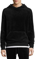 ATM Anthony Thomas Melillo Velour Hooded Sweatshirt, Black