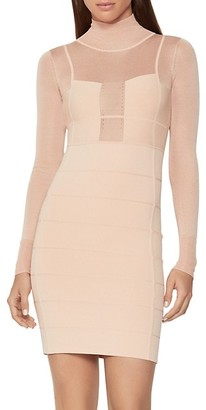 Herve Leger Sporty Sheer Bandage Cocktail Dress