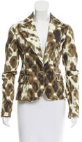 Just Cavalli Printed Notch-Lapel Blazer