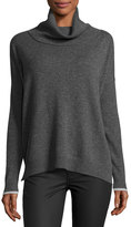 Three Dots Raleigh Cashmere Cowl-Neck Sweater, Charcoal