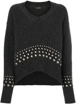 Roberto Collina V-neck stud jumper