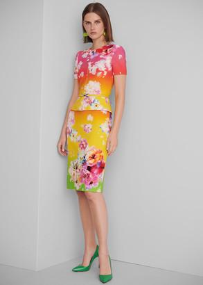 Ralph Lauren Cynthia Ombre Wool Skirt