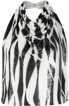 Versace Pre-Owned Zebra Print Open Back Top