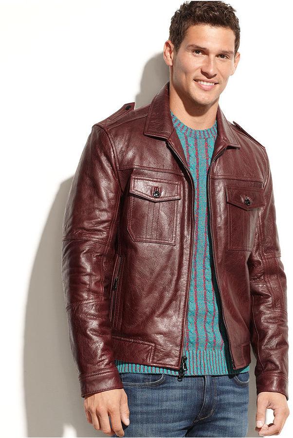 Kenneth Cole Reaction Jacket, Washed Leather Jacket