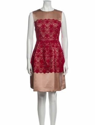 Dolce & Gabbana Lace Pattern Knee-Length Dress Pink