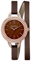 Caravelle New York Analog Dress Collection Leather Watch