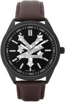 Zoo York Mens Silvertone Black Dial Bracelet Watch
