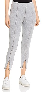 Lysse Evelyn Split Hem Jeans in Light Gray