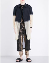 Astrid Andersen Contrast-panel Shell Trench Coat