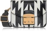 Furla Onyx and Petalo Oasi Printed Leather Metropolis Mini Crossbody