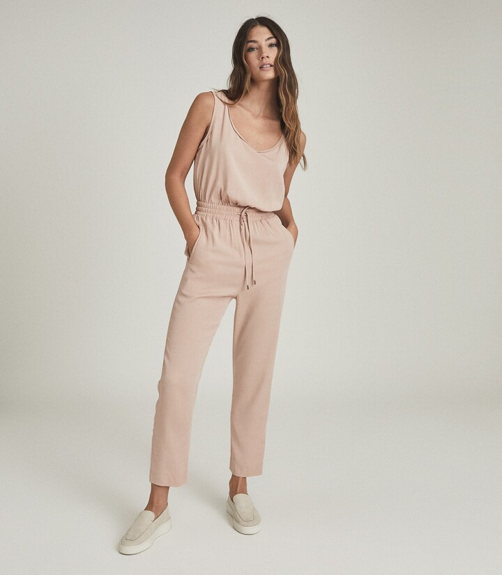 Thumbnail for your product : Reiss Kat - Casual Straight Leg Jumpsuit in Blush