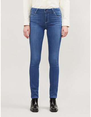 Paige Skyline mid-rise skinny stretch-denim jeans