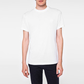 Paul Smith Men's Slim-Fit White Embossed PS Logo Supima-Cotton T-Shirt