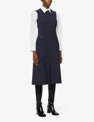 Victoria Beckham Sleeveless stretch-woven midi dress