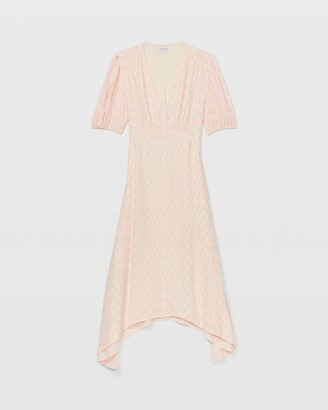 Club Monaco V-Neck Puff Sleeve Dress
