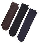 Relativity Black/Navy/Brown Multi-Ribbed Trouser Sock 3-pk.