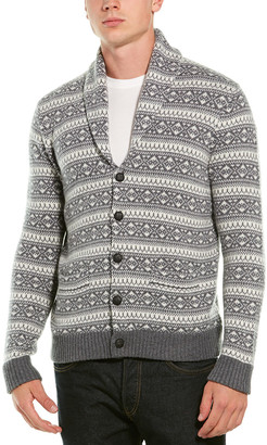 Brooks Brothers Wool-Blend Shawl Collar Sweater