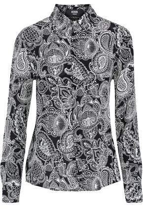 Versace Printed Silk-Satin Shirt