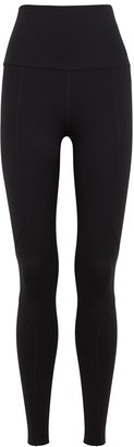 Live The Process Geometric black stretch-jersey leggings