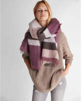 Express color block stripe blanket scarf