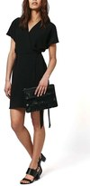 Topshop Women's Tie Wrap Minidress