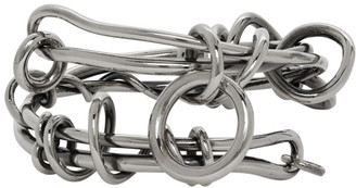 Alexander McQueen Silver Knotted Wire Bracelet