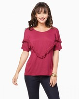 Charming charlie Jersey Fringe Tee