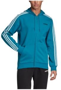 adidas Men's Essentials 3-Stripe Fleece Zip Hoodie