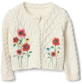 Gap Floral cable knit cardigan