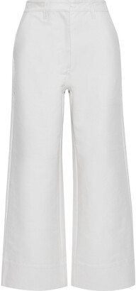Co Cropped Cotton-twill Wide-leg Pants