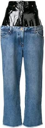 Natasha Zinko contrast high waist jeans