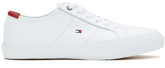 Tommy Hilfiger Core Corporate Flag Sneaker Trainers in Leather